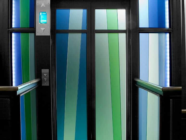 How to Combine Color with Acid-etched Glass and Mirror | Walker Glass